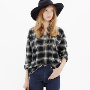 Madewell | Flannel Trapeze Shirt in Overcast Plaid